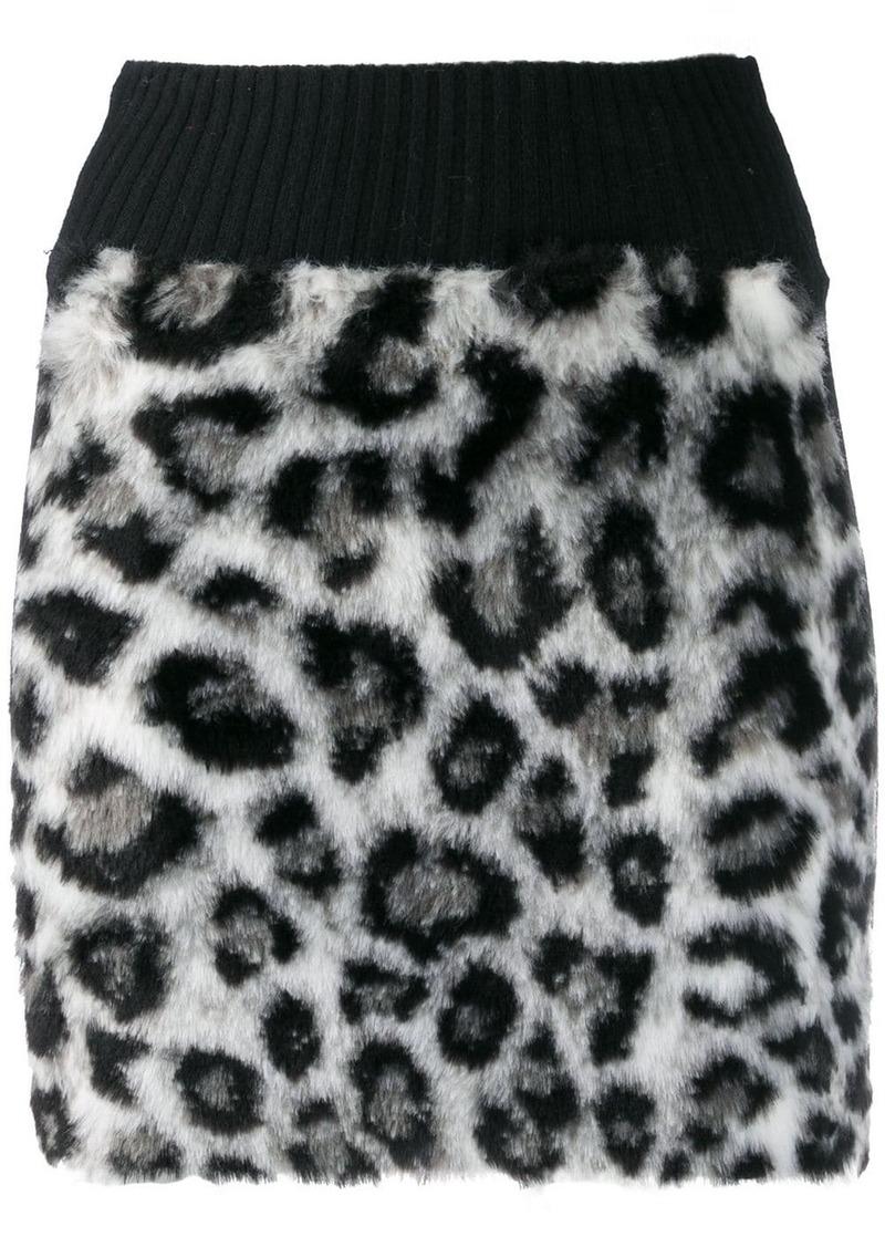 Alberta Ferretti leopard print mini skirt