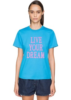 Alberta Ferretti 'live Your Dream' Cotton T-shirt
