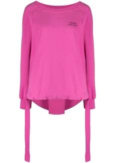 Alberta Ferretti logo crew-neck sweatshirt