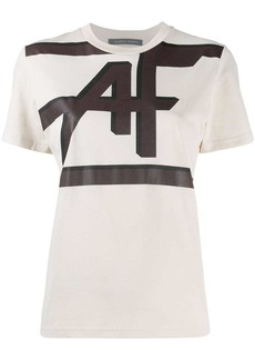 Alberta Ferretti logo print crew neck T-shirt