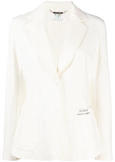 Alberta Ferretti logo print single-breasted blazer