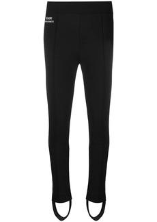 Alberta Ferretti logo stirrup trousers