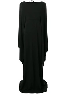 Alberta Ferretti long dress with cape sleeves