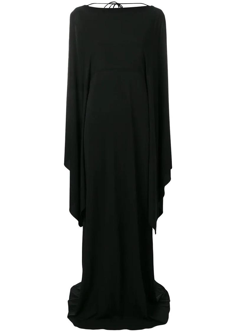 Alberta Ferretti long dress with cape sleeves