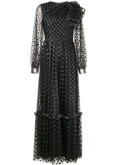 Alberta Ferretti long polka dot dress