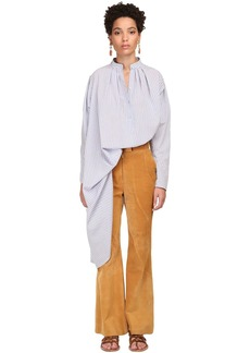 Alberta Ferretti Long Striped Viscose Shirt Dress