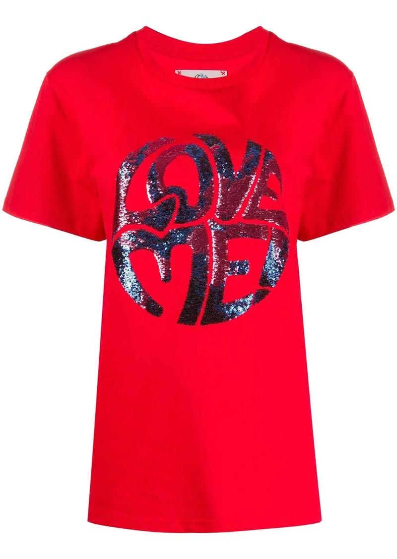 Alberta Ferretti Love Me embellished T-shirt