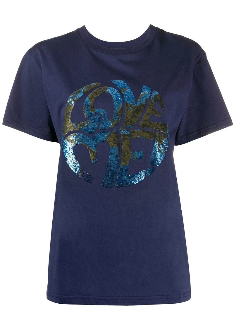 Alberta Ferretti Love sequin T-shirt
