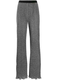 Alberta Ferretti lurex knit flared trousers
