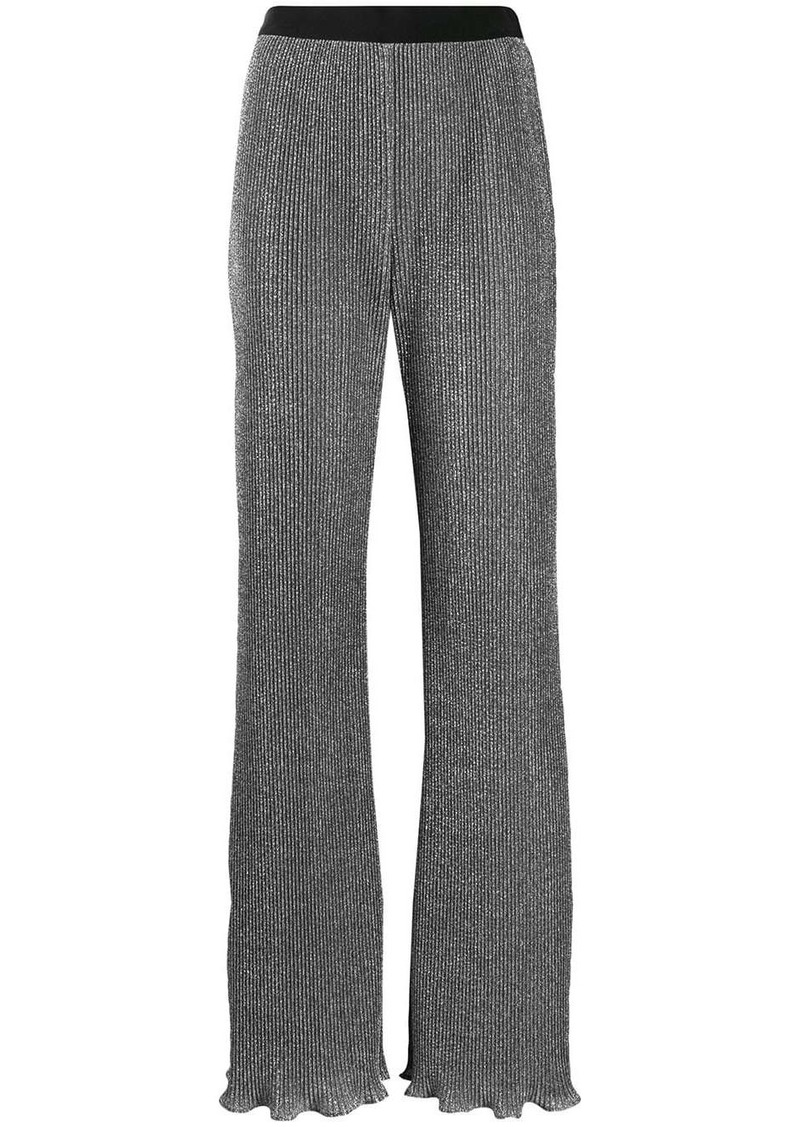 Alberta Ferretti lurex knit flared trousers
