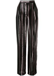 Alberta Ferretti Lurex Striped trousers
