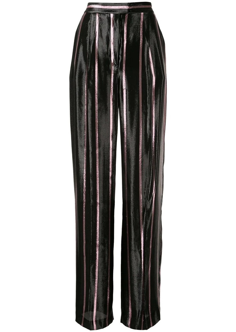 Alberta Ferretti Lurex Striped trousers