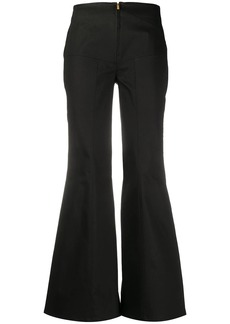 Alberta Ferretti mid rise flared trousers