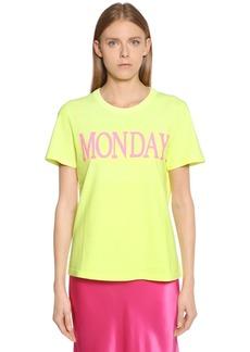 Alberta Ferretti Monday Cotton Jersey T-shirt