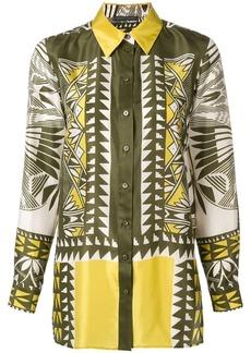 Alberta Ferretti multi-pattern print shirt