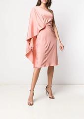 Alberta Ferretti one-shoulder draped dress