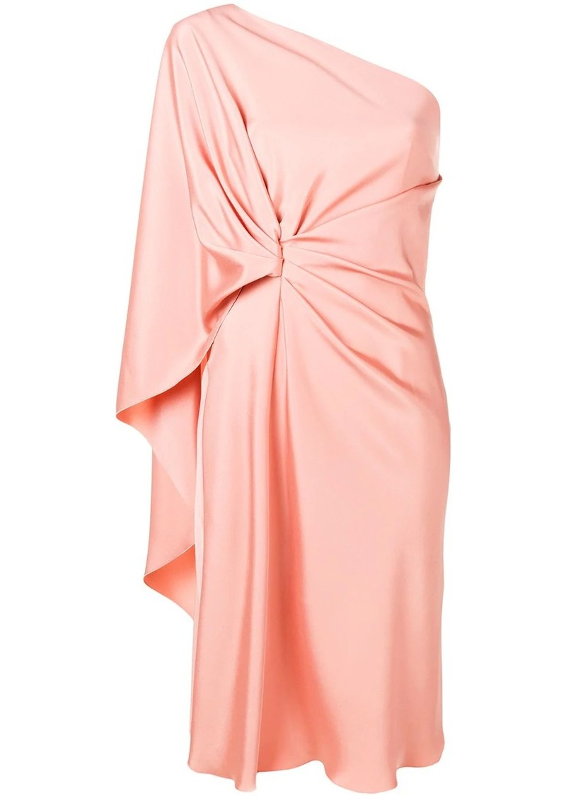 Alberta Ferretti one-shoulder draped dress