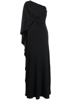 Alberta Ferretti one shoulder draped gown