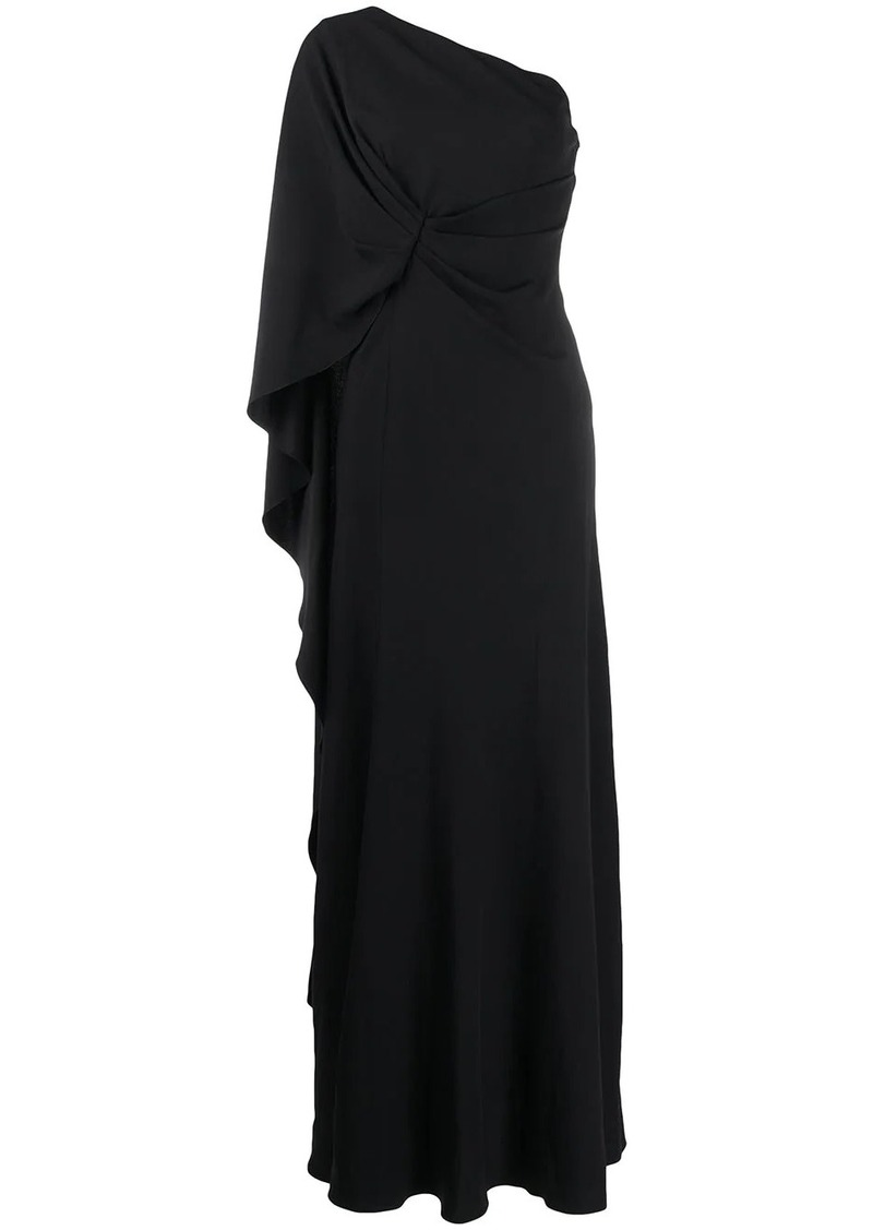 Alberta Ferretti one shoulder draped gown