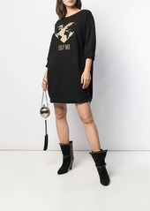 Alberta Ferretti embroidered sweater dress