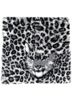 Alberta Ferretti oversized leopard print scarf