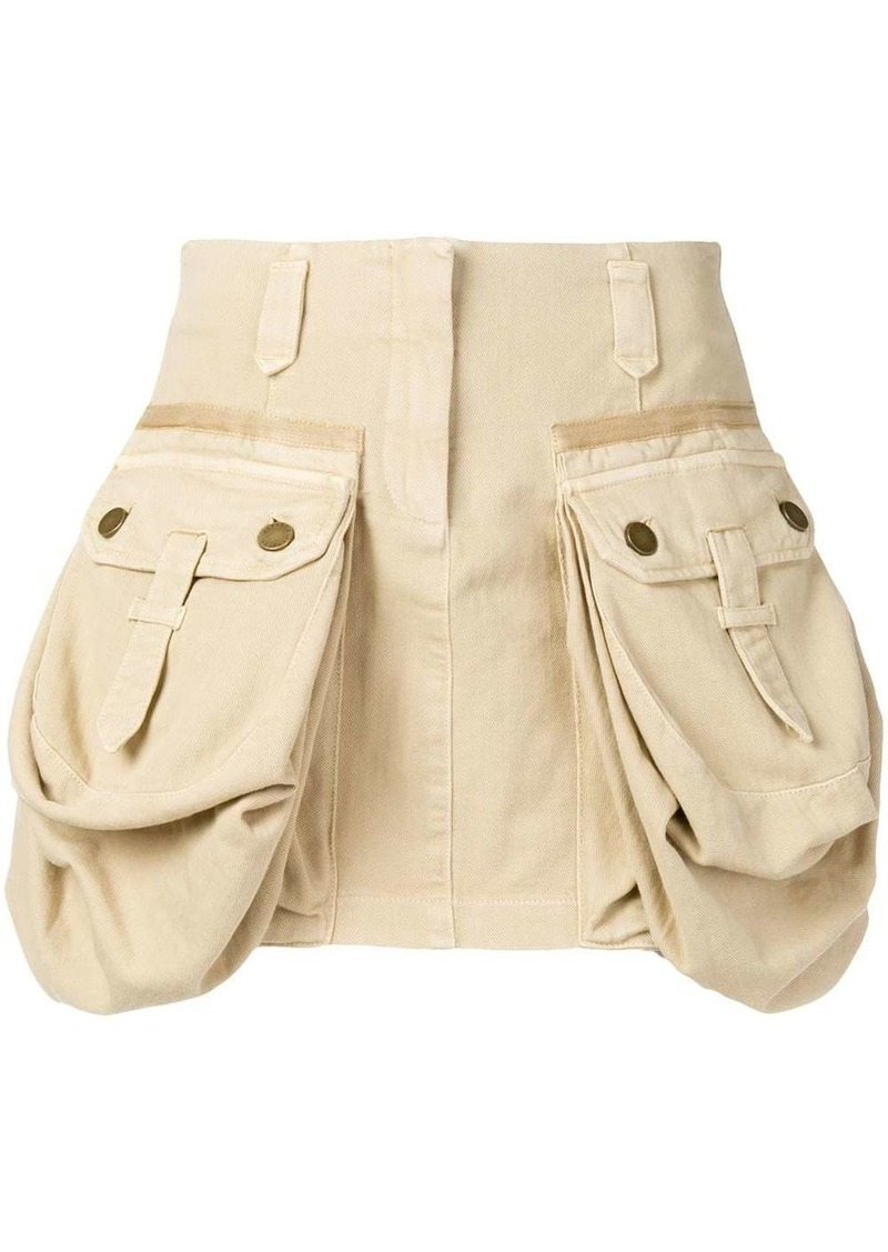 Alberta Ferretti oversized pockets mini skirt