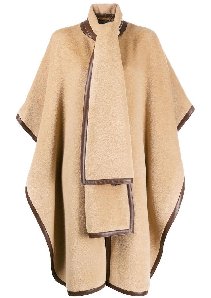 Alberta Ferretti oversized textured cape coat