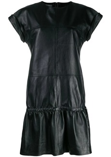 Alberta Ferretti panel flared mini dress