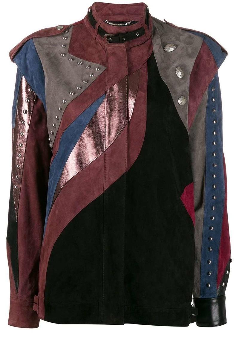 Alberta Ferretti patchwork leather jacket