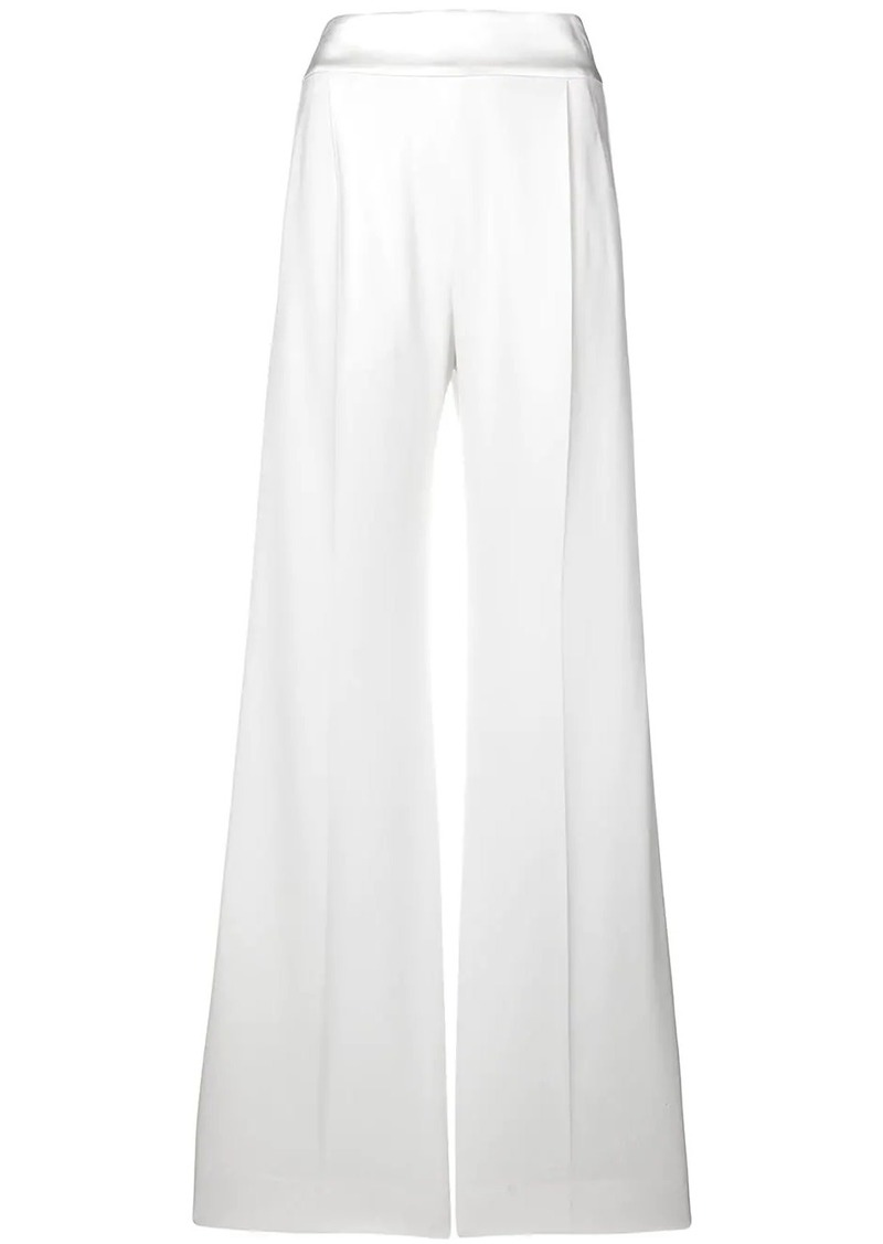 Alberta Ferretti plain flared trousers