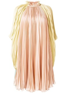 Alberta Ferretti pleated high-neck dress