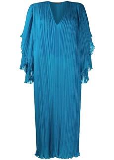 Alberta Ferretti plissé shift dress