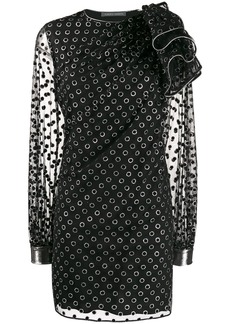 Alberta Ferretti polka dot print dress