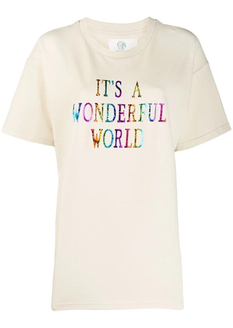 Alberta Ferretti printed oversized T-shirt