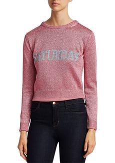 Alberta Ferretti Rainbow Week Capsule Days Of The Week Saturday Lurex Sweater