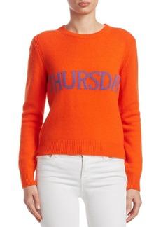 Alberta Ferretti Rainbow Week Capsule Days Of The Week Thursday Sweater