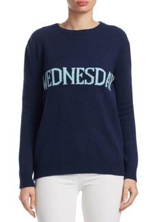 Alberta Ferretti Rainbow Week Capsule Days Of The Week Wednesday Sweater