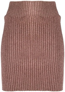 Alberta Ferretti ribbed knit skirt