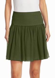 Alberta Ferretti Ribbed Waist Mini Skirt
