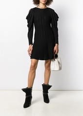 Alberta Ferretti ruffle sleeve knitted dress