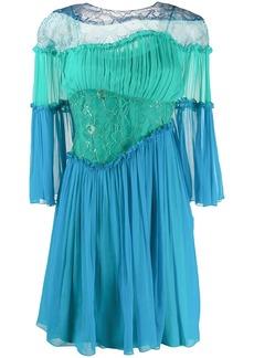 Alberta Ferretti ruffle-trimmed panelled dress