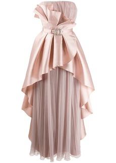 Alberta Ferretti ruffled bustier dress