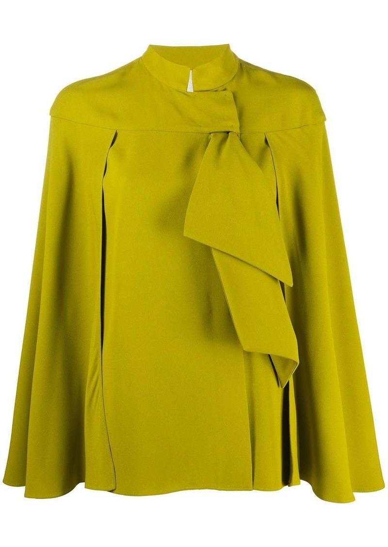 Alberta Ferretti ruffled cape blouse