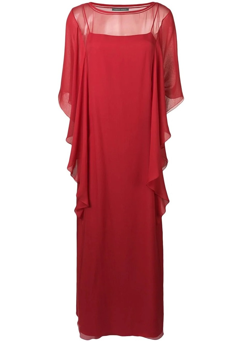Alberta Ferretti ruffled maxi dress
