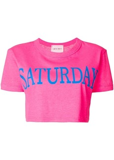 Alberta Ferretti Saturday cropped T-shirt