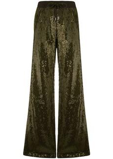 Alberta Ferretti sequin embellished track pants