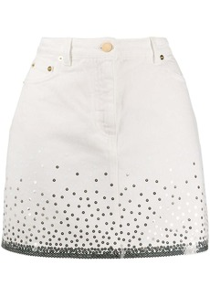 Alberta Ferretti sequin embroidered mini skirt