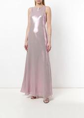 Alberta Ferretti shimmery racerback maxi dress