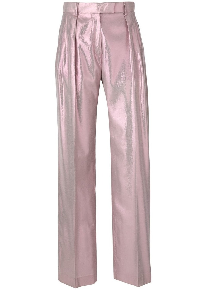 Alberta Ferretti shimmery tailored trousers