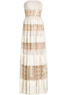 Alberta Ferretti Silk Maxi Dress
